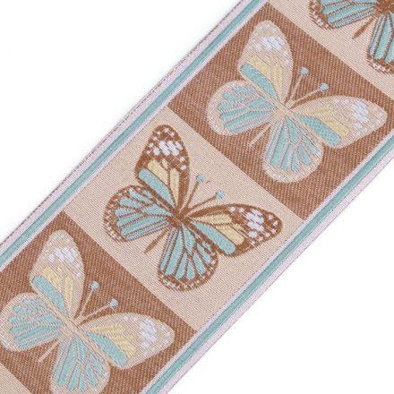 Galanterie: Vzorovka motýli šíře 90 mm (1m) - sv.béžová