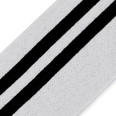 Galanterie: Elastický náplet šíře 58 mm (1m) - bílá