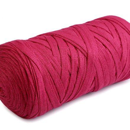 Galanterie: Špagety ploché Ribbon 250g - malinová