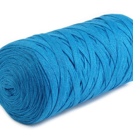 Galanterie: Špagety ploché Ribbon 250g - azurová