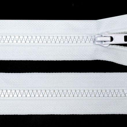 Galanterie: Kostěný zip šíře 5 mm délka 45 cm - bílá