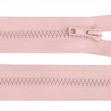 Galanterie: Kostěný zip šíře 5 mm délka 45 cm - pudrová