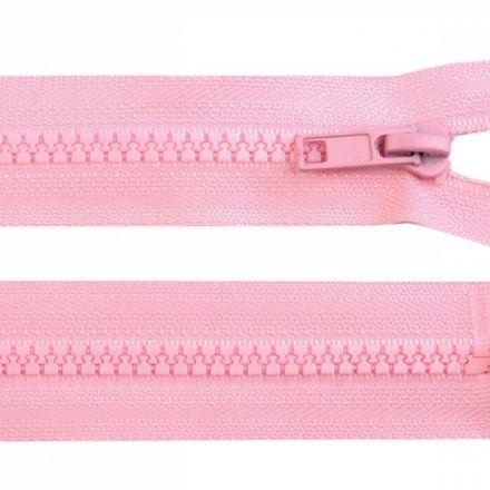 Galanterie: Kostěný zip šíře 5 mm délka 45 cm - růžová