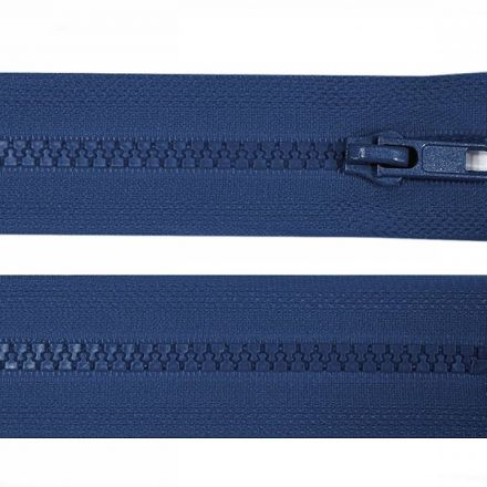 Galanterie: Kostěný zip šíře 5 mm délka 45 cm - modrá