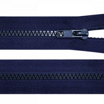 Galanterie: Kostěný zip šíře 5 mm délka 45 cm - tm. modrá
