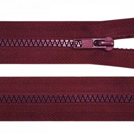 Galanterie: Kostěný zip šíře 5 mm délka 45 cm - bordó