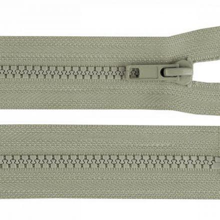 Galanterie: Kostěný zip šíře 5 mm délka 45 cm - šedá