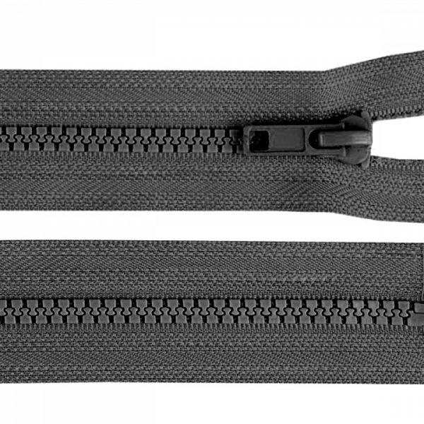 Kostěný zip šíře 5 mm délka 45 cm - šedá