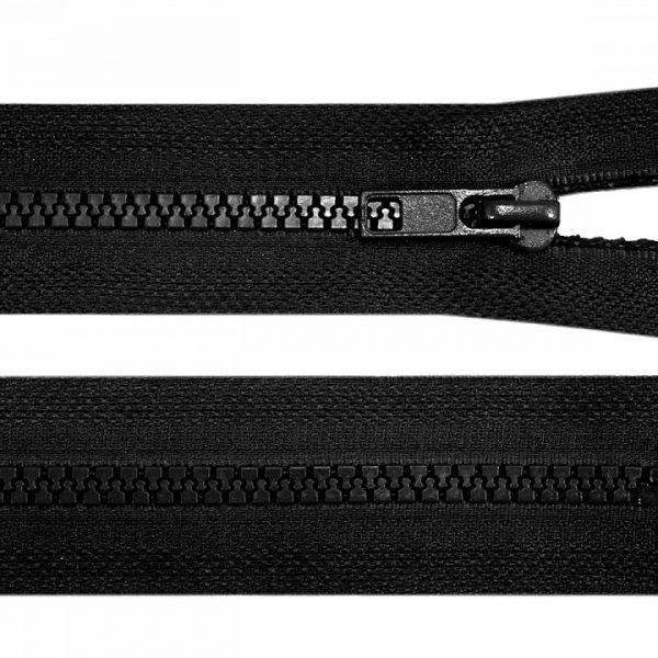 Kostěný zip šíře 5 mm délka 45 cm - černá