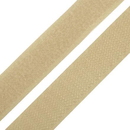 Galanterie: Suchý zip šíře 20 mm - béžová