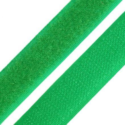 Galanterie: Suchý zip šíře 20 mm - zelená