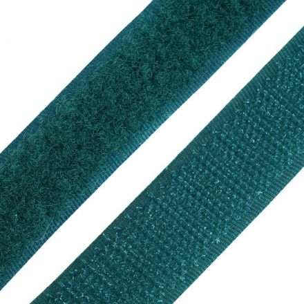 Galanterie: Suchý zip šíře 20 mm - tm. zelená