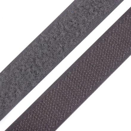 Galanterie: Suchý zip šíře 20 mm - tmvě šedá