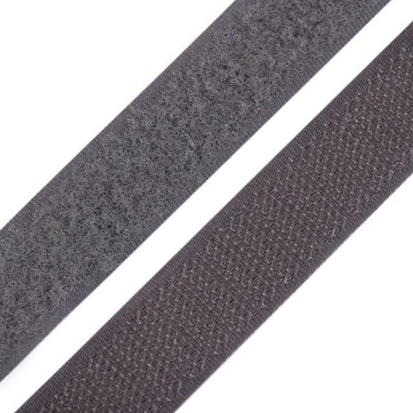Suchý zip šíře 20 mm - tmvě šedá