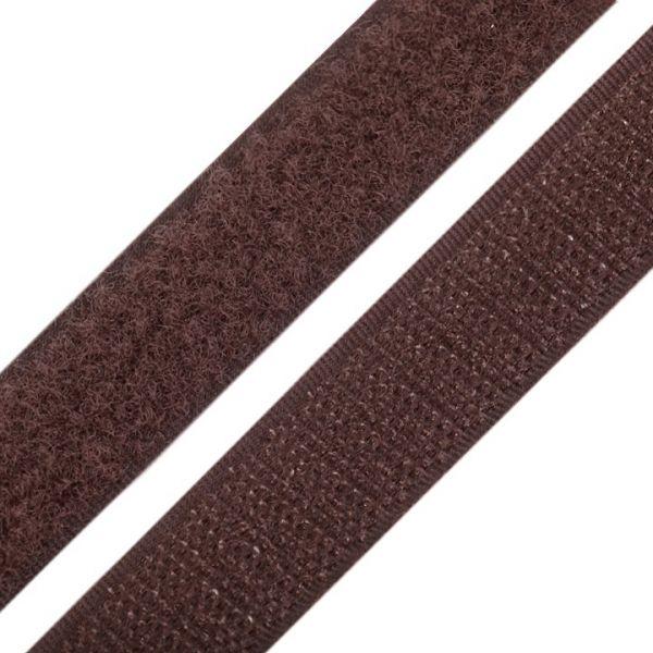 Suchý zip šíře 20 mm - hnědá