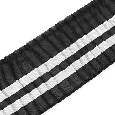 Galanterie: Prýmek plisovaný šíře 78 mm (1m) - černá