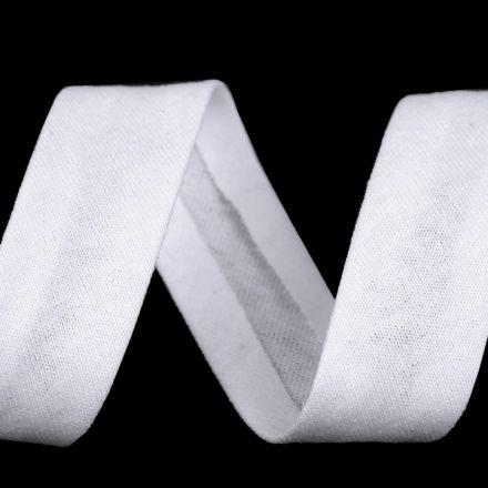 Galanterie: Šikmý proužek elastický šíře 20 mm - bílá