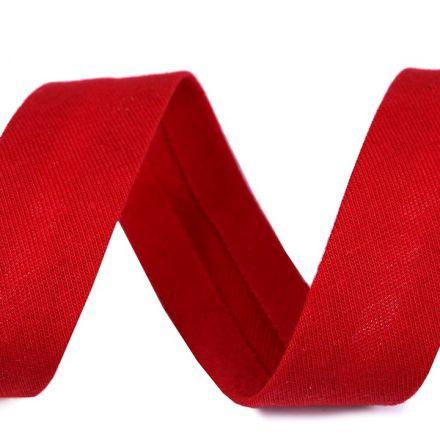 Galanterie: Šikmý proužek elastický šíře 20 mm - červená