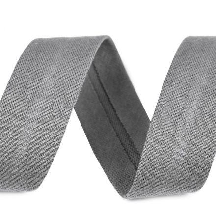 Galanterie: Šikmý proužek elastický šíře 20 mm - šedá