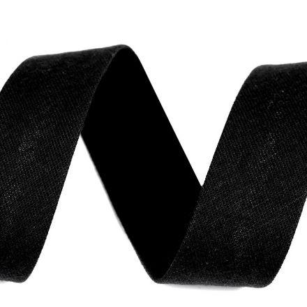 Galanterie: Šikmý proužek elastický šíře 20 mm - černá