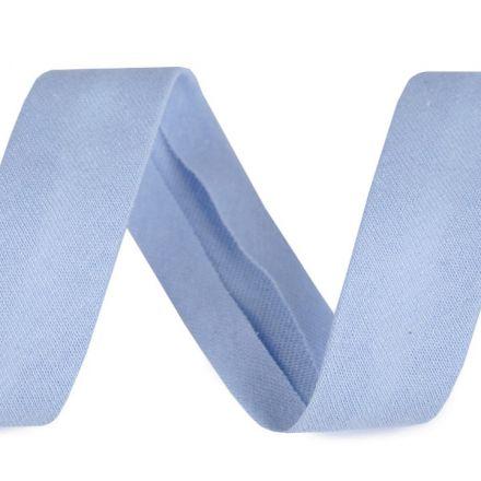 Galanterie: Šikmý proužek elastický šíře 20 mm - světle modrá