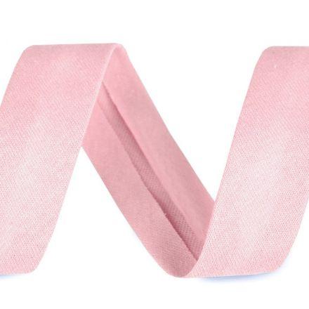 Galanterie: Šikmý proužek elastický šíře 20 mm - světle růžová