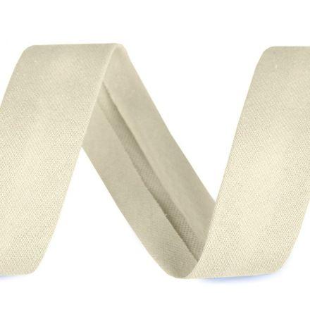 Galanterie: Šikmý proužek elastický šíře 20 mm - šedokrémová