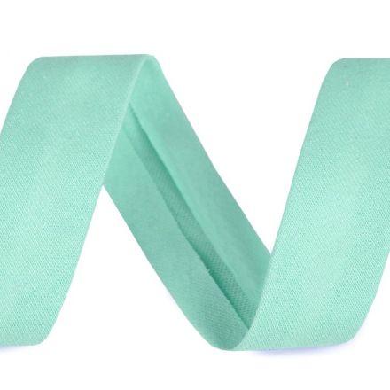 Galanterie: Šikmý proužek elastický šíře 20 mm - mint