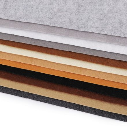 Galanterie: Dekorativní plsť / filc 20 x 30 cm (12ks) - mix