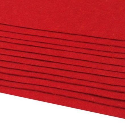 Galanterie: Dekorativní filc  /plsť 20x30 cm - červená