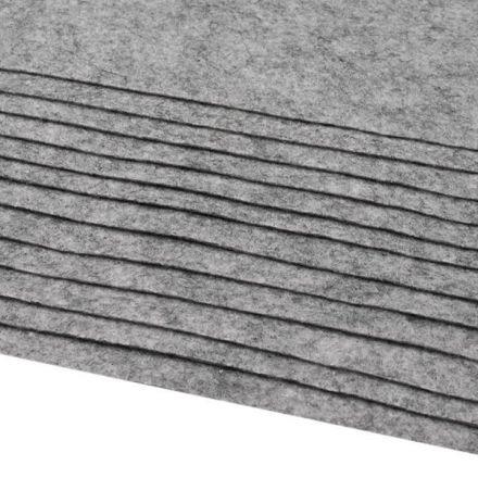Galanterie: Dekorativní filc / plsť 20x30 cm - šedá