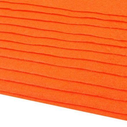 Galanterie: Dekorativní filc / plsť 20x30 cm - oranžová reflexní