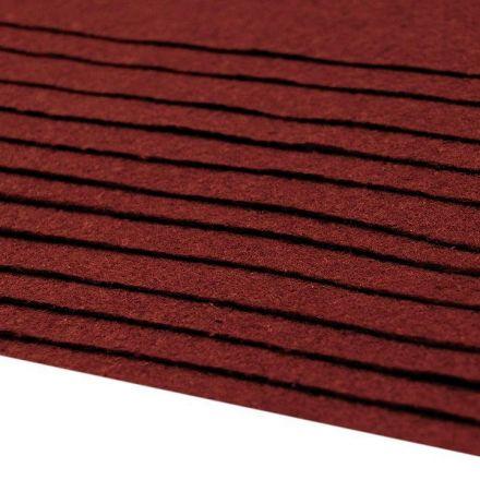 Galanterie: Dekorativní filc / plsť 20 x 30 cm - bordó