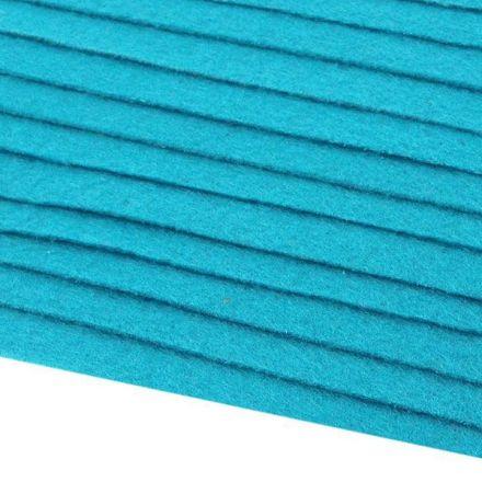 Galanterie: Dekorativní filc  /plsť 20x30 cm - modrá