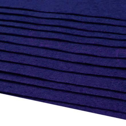 Galanterie: Dekorativní filc  /plsť 20x30 cm - borůvková