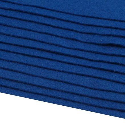 Galanterie: Dekorativní filc  /plsť 20x30 cm - královsky modrá