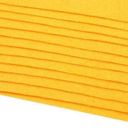 Galanterie: Dekorativní filc  /plsť 20x30 cm - hořčicová