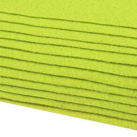 Galanterie: Dekorativní filc  /plsť 20x30 cm - limetková zelená