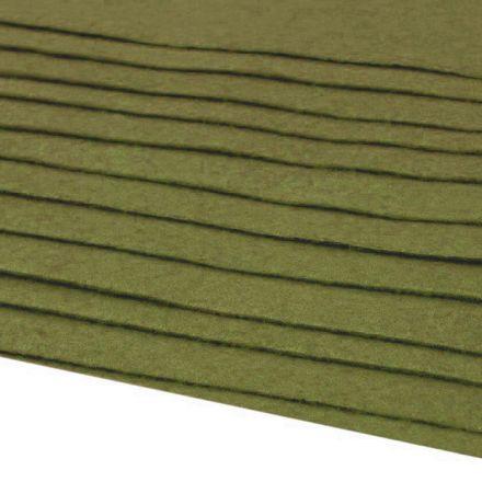 Galanterie: Dekorativní filc  /plsť 20x30 cm - khaki