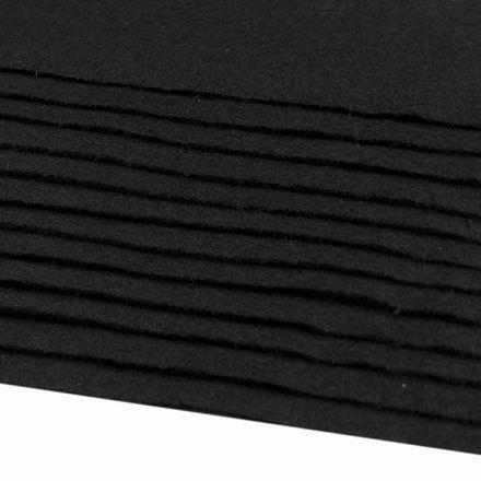 Galanterie: Dekorativní filc  /plsť 20x30 cm - černá