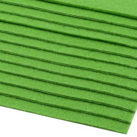 Galanterie: Dekorativní filc  /plsť 20x30 cm - zelená