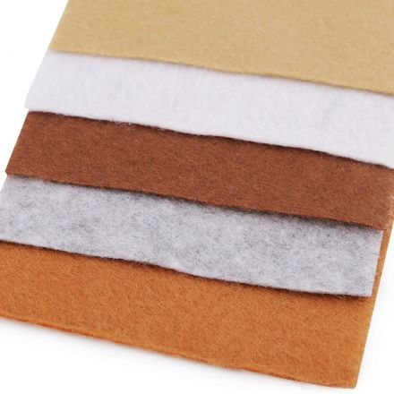 Galanterie: Sada dekorativních filců / plstí 10 x 45 cm (5ks)