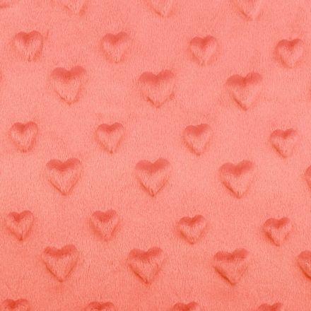 Metráž: Minky 3D srdce - korálová