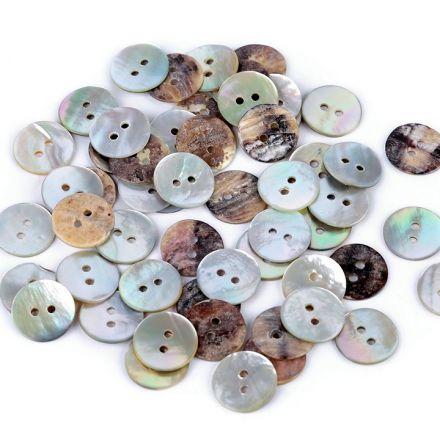 Galanterie: Knoflík perleťový 15 mm (1ks)