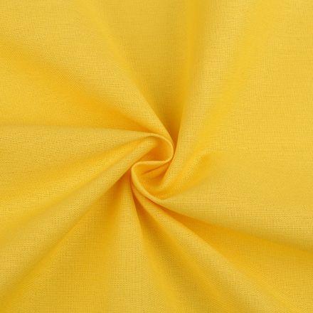 Metráž: Len s viskózou šíře 140 cm - žlutá