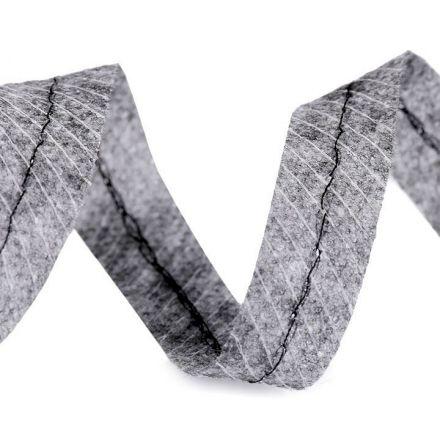 Metráž: Zažehlovací proužek do švů - šedá