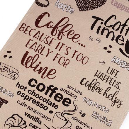 Metráž: Bavlněné vaflové piké (1m) - káva
