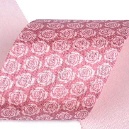 Galanterie: Saténová pruženka šíře 50 mm - růžová růže