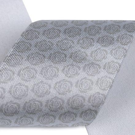 Galanterie: Saténová pruženka šíře 50 mm - šedá růže