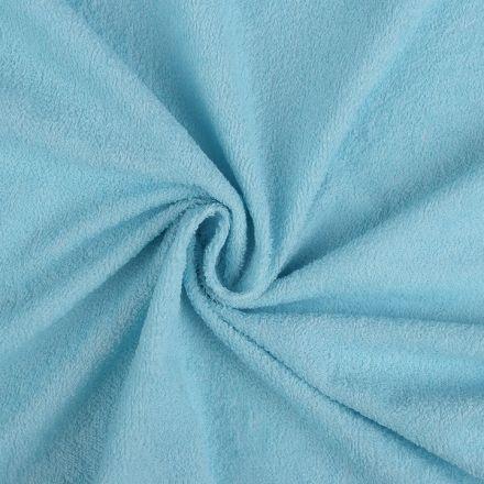 Metráž: Bavlněné froté s nepropustnou membránou - modrá